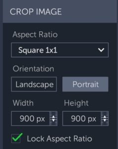 Crop Settings